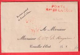 FRANCHISE POSTES Bau DE LA COUR PARIS 1828 LE SECRETAIRE DU CONSEIL D'ETAT - 1801-1848: Precursors XIX