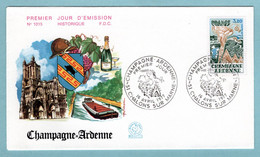 FDC France 1977- Champagne Ardenne - YT 1920 - 51 Chalons Sur Marne - 1970-1979
