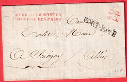 FRANCHISE BUREAU DE POSTE CHAMBRE DES PAIRS + 60PP PORT PAYE PARIS 1825 SOUVIGNY ALLIER - 1801-1848: Precursors XIX