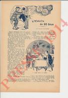 4 Vues Récit 1914 Eugène Chavette + Publicité Carrelages Lyon Chicorée Au Tigre Lervilles Bouchain Tournus Lyon 249/16 - Non Classés