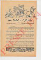2 Vues Un Salut à L'Armée Chanson-Marche Lucien Colonge Musique Vieillot Devaux Pilules Brissaud Nyth Poux Enfants249/16 - Non Classés