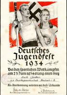 Deutsches Jugendfest 1934,Sieg-Urkunde,23.Juni 1934,Reichsjugendführer,Reichssportführer,Schule Mosbach,Neckar-Odenwald - Historical Documents