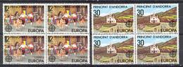 Andorra - 1981, Europa E=140-41 S=126-27 (**) Bl - Ungebraucht