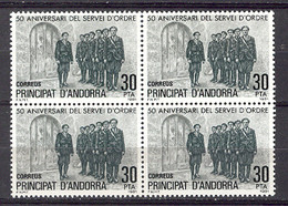 Andorra - 1981, Servei D'ordre E=142 S=128 (**)  Bloque - Ungebraucht