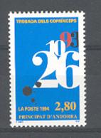 Andorra -Franc 1994 R. Coprincipes. Y=453 E=474 (**) - Ungebraucht