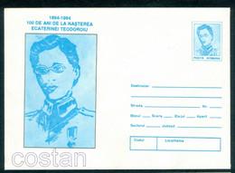 1994 Ecaterina Teodoroiu,girl Scout,nurse,WWI National War Hero,Romania,cover/06 - Maximum Cards & Covers