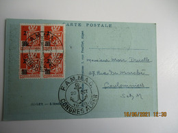 1948  Congres Alger F A M M A C Obliteration Lettre 5 Timbres - 1921-1960: Moderne
