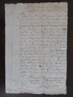 France - Manuscrit Ancien 1664 Sur Parchemin - Manuscripts