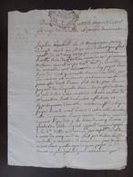 France - Manuscrit Ancien 1737 - Acte Notarié - Contient 3 Petits Papiers Manuscrits Signés Par Les Différentes Parties - Manuscripts