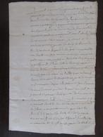 France - Manuscrit Ancien 1659 - Probable Acte Notarié Sur Parchemin Filigrané - Manuscripts