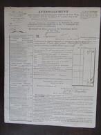 France - Avis D'imposition Ancien Daté 1819 Pour La Commune De L'Esperés (Arrondissement De Muret) - Historical Documents