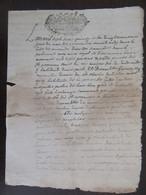 France - Manuscrit Ancien 1715 - Tampon De La Ville De Montauban - à Déchiffrer - Manuscripts
