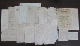 France - Lot De Manuscrits Sur Parchemins Et Documents Divers Dont Le Plus Ancien Date De 1682 - Historical Documents