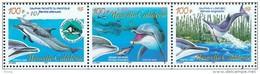 Nouvelle Calédonie Yv. N° 965 ** / 967 ** Cétacés Dauphins Surchargés + 10F  - Cote 54 &euro - Unused Stamps