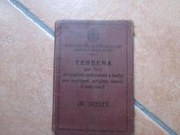 NAPOLI 1932 TESSERA Per Uso Biglietti Settimanali E Festivi Per Impiegati Artigiani Operai Braccianti + Settimanale - Europe
