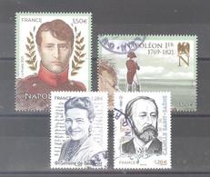 """France Oblitérés :  Les 2 Timbres Du Bloc """"Napoléon 1er"""" - Simone De Beauvoir - Camille Saint-Saëns (cachet Rond) - Used Stamps"""