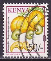 Timbre Oblitéré N° 739(Yvert) Kenya 2001 - Noix De Cajou - Kenya (1963-...)