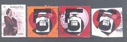 France Oblitérés : Madeleine Brès - Coeur De Chanel N°5 (1,08 - 2,16 & 1,08 Issu Du Bloc) (cachet Rond) - Used Stamps