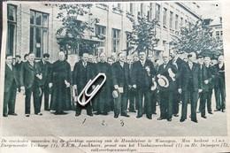 WAREGEM..1936.. PLECHTIGE OPENING VAN DE HANDELSFOOR/ BURG. VERHAEGE/Z.E.H. JONCKHEERE/HEER DE JAEGERE - Non Classés