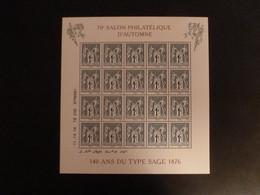 Bloc Neuf 140ème Anniversaire Du Type Sage F5094 - Nuevos