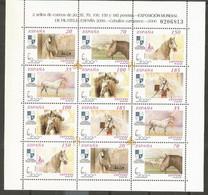 ESPAÑA CABALLOS CARTUJANOS SERIE COMPLETA  EDIFIL NUM. 3723/3728A ** MINI PLIEGO NUM. 69 - 1991-00 Unused Stamps