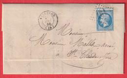 N°22 VARIETE PICQUAGE A CHEVAL GC 161 ARINTHOD JURA POUR ST CLAUDE - 1849-1876: Classic Period