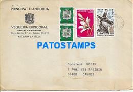 160768 ANDORRA LA VELLA COVER CANCEL YEAR 1981 STAMPS FAUNA FLORA CIRCULATED TO FRANCE NO POSTAL POSTCARD - Ohne Zuordnung