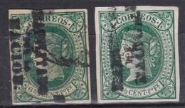 1864 Filipinas HABILITADO POR LA NACION USADOS - Filippine