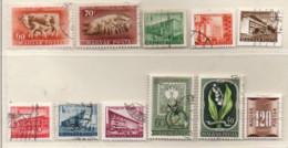 Ungarn 1951 Siehe Bild 11 Marken Gestempelt  Hungary Used - Gebraucht