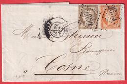 N°38 56 GC 2654 NEVERS NIEVRE POUR COSNE - 1849-1876: Classic Period