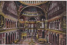 TURKEY - Constantinople - Interieur De La Mosquee Ste Sophie - Turchia