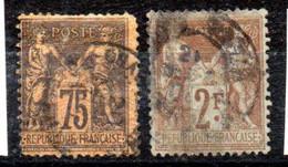 France Frankreich Y&T 99° (déf.), 105° (-) - 1876-1898 Sage (Type II)