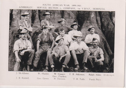 SOUTH AFRICA - South African War - Kimberley Service Section L Company 1st VBNF Morpeth - Photograph - Andere Kriege