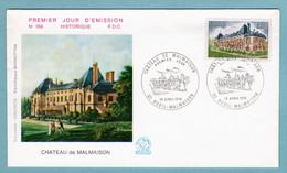 FDC France 1976 - Chateau De Malmaison - YT 1873 - 92 Rueil-Malmaison - 1970-1979