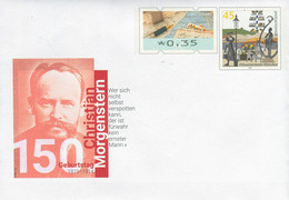 07902) BRD - USo ? - ✶ # - 35 Neben 45 C    150, Geburtstag Christian Morgenstern, Ausgabe: 06.05.2021 - Covers - Mint