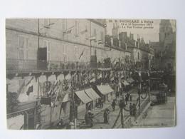 BRIVE, Voyage Du Président Poincaré 12 Et 13 Septembre 1913, La Rue Toulzac Pavoisée - Brive La Gaillarde