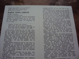 Doodsprentje/Bidprentje Eugène A.LAMOTE(Echtg L.Vanderghote) Oostduink. 1928-1982 Oostende Kapitein Kustvaart/ Loods.... - Religion & Esotericism