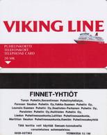FINLAND - Viking Line, Finnet-Yhtiot, Turun Puhelin Telecard, CN : 6020, Tirage 2500, Exp.date 12/98, Used - Finland