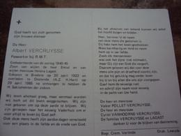 Doodsprentje/Bidprentje . ALBERT VERCRUYSSE  Bredene 1922-1985 Oostende Paswerker Bij R.M.T. - Religion & Esotericism