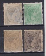 LOTE CUBA 1876 NUEVOS - Cuba (1874-1898)