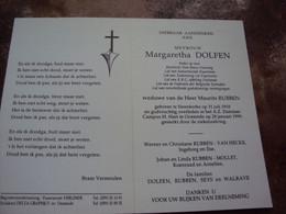 Doodsprentje/Bidprentje .Margaretha DOLFEN (Wwe M.RUBBEN) Steenkerke 1918-1999 Oostende Reder O.r.  ...... - Religion & Esotericism
