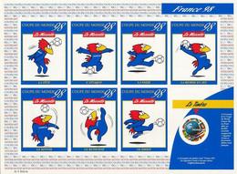 France 1998 - 3140a 37A Feuillet Adhésif Footix Coupe Du Monde De Football - Neuf Lot 9 Exemplaires - Nuovi