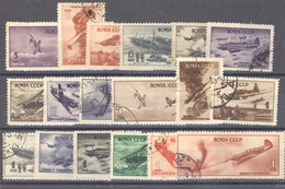 Ru0  -  Russie  -  Avion  :  Yv  72-89  (o) - Used Stamps