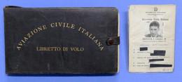 Libretto Di Volo + Brevetto E Licenza Pilota Civile - Casale - Anni '50 - '60 - Non Classés