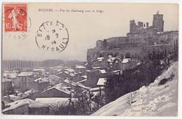 BEZIERS Vue Du Faubourg Avec La Neige - Beziers