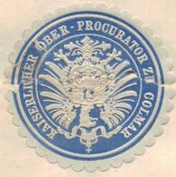 COLMAR Pour HEILIGENSTEIN; 1872 - Alsace Lorraine