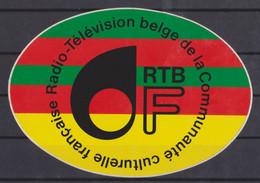 Autocollant, Radio Télévision De La Communauté Culturelle Française. - Autocollants
