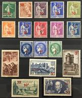 YT 476 Au 493 (*) MH Série Complète 1940-41 Surchargés Clément Ader (côte 52 Euros) France – Isch - Unused Stamps