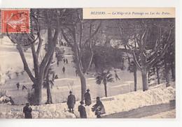 BEZIERS La Neige Et Le Patinage Au Lac Des Poetes - Beziers