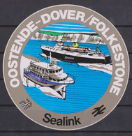 Autocollant, Sealink, Oostende-Dover-Folkestone. - Autocollants